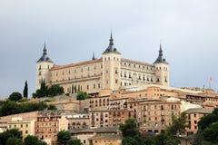 Alcazar av Toledo, Spanien Arkivbild