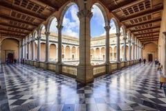 Alcazar av Toledo, Spanien Fotografering för Bildbyråer