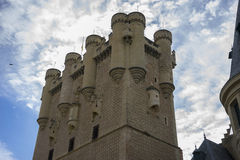 Alcazar castle city of Segovia, Spain. Old town of Roman origin Royalty Free Stock Images