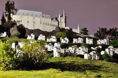 Alcazar castle night,Spain Royalty Free Stock Photography