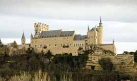 Alcazar de Segovia. This Alcazar, a castle-palace, lies in the walled city of Segovia in the province of Segovia in Spain. It's one of the most famous castles in Stock Image