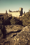 Alcazar - the castle in Segovia Royalty Free Stock Photo