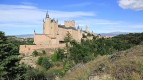 Alcazar Castle in Segovia, Spain stock footage