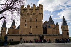 Alcazar castle in Segovia, Spain Stock Photos