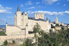Alcazar Castle in Segovia, Spain Stock Images