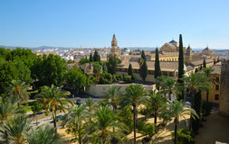 Alcazar and cathedral Cordoba Stock Photos