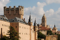 Alcazar and Cathedral of Segovia. Spain Royalty Free Stock Images