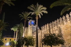 Alcazar Christian Monarchss, Cordoba, Spanien Stockbilder
