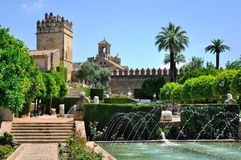 Взгляд мечети Alcazar и собора Cordoba, Испании Стоковое фото RF