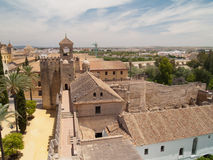 Alcazar of Cordoba from above Stock Photo