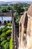 Alcazar in Cordoba, Spanien Stockbilder