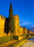 Alcazar of Cordoba in winter evening Stock Image