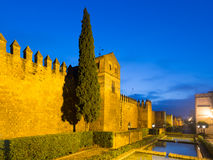 Alcazar of Cordoba in winter evening.  Spain Royalty Free Stock Images