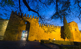 Alcazar of Cordoba in winter evening Royalty Free Stock Photo