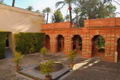 Alcazar courtyard Royalty Free Stock Images