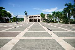 Alcazar de Kolon i Santo Domingo arkivbilder