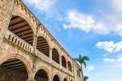 Alcazar de Kolon i Santo Domingo, Dominikanska republiken Arkivbilder