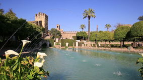 Alcazar de los Reyes Cristianos in Cordoba, Andalusia, Spain stock video footage