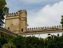 Alcazar de los Reyes Cristianos in Cordoba, Spain Royalty Free Stock Photography