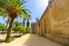 Alcazar de los Reyes Cristianos en het landschap van Cordoba, Sp Stock Image
