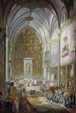 Alcazar de Paret y, Luis - Fernando VII é jurado dentro como o príncipe das Astúrias, 1791 foto de stock royalty free