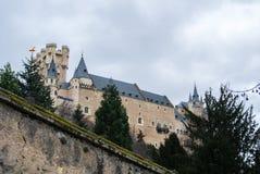 Alcazar de Segovia, de un castillo y de una residencia de reyes de la época medieval fotos de archivo