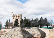 Alcazar de Segovia exterior view of the fortress stock images