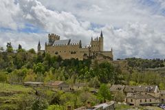 Alcazar de Segovia kasztel obraz royalty free