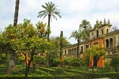 Alcazar de Sevilla imagen de archivo libre de regalías