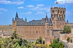 Alcazar del castillo de Segovia, España fotos de archivo