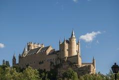 Alcazar del lato di Segovia Fotografie Stock Libere da Diritti