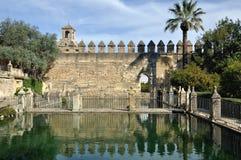 Garten des Alcazar-Palastes in Cordoba, Spanien Stockfoto