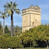 Garten des Alcazar-Palastes in Cordoba, Spanien Stockfotos