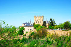 Alcazar do castelo de Segovia, de Castilla e de Leon Foto de Stock Royalty Free