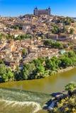 Alcazar-Festungs-mittelalterliche Stadt der Tajo Toledo Spain Lizenzfreies Stockfoto