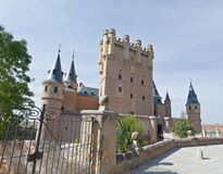 Alcazar fortress of the Segovia city Royalty Free Stock Photography