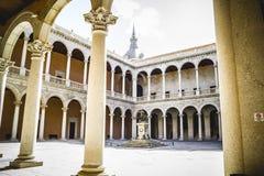 Alcazar fästning, turism, Toledo, mest berömd stad i Spanien Arkivbild