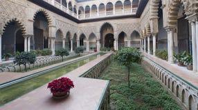 Alcazar garden stock photos