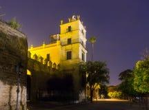 Alcazar of Jerez in night Stock Photography