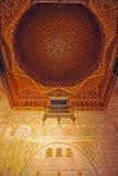 Alcazar königlich in Sevilla, Hall von Botschaftern, Andalusien, Spanien Lizenzfreies Stockfoto