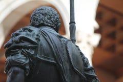 Alcazar konkwistadora statua, Toledo Hiszpania zdjęcie stock