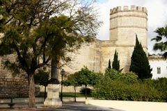 The Alcazar medieval fortress tower, Jerez Royalty Free Stock Image