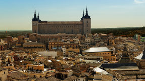 Alcazar and old part of Toledo, Spain Royalty Free Stock Image