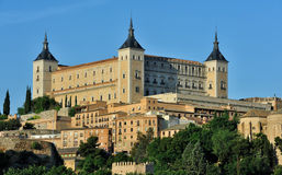 Alcazar and old part of Toledo, Spain Stock Photo