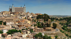 Alcazar and old part of Toledo, Spain Royalty Free Stock Photos