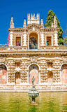 Alcazar in the old town of Sevilla. Stock Photography