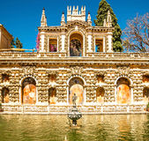 Alcazar in the old town of Sevilla. Stock Image