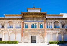 Alcazar in the old town of Sevilla Royalty Free Stock Photo