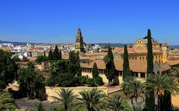 Alcazar Palace in Cordoba stock images