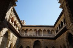 Alcazar palace in sevilla spain stock image